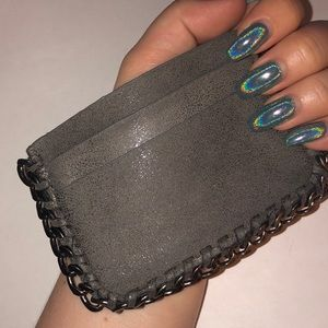 Accessories - CARD WALLET WITH CHAIN DETAIL